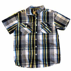Roebuck&Co Plaid Short Sleeve Button Up Shirt-SZ M